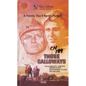 THOSE CALLOWAYS (1965) Movie VHS Disney