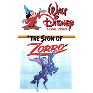 The Sign of Zorro (1958) Movie VHS Disney
